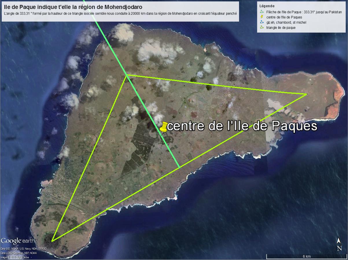 direction de l'Ile de Paques