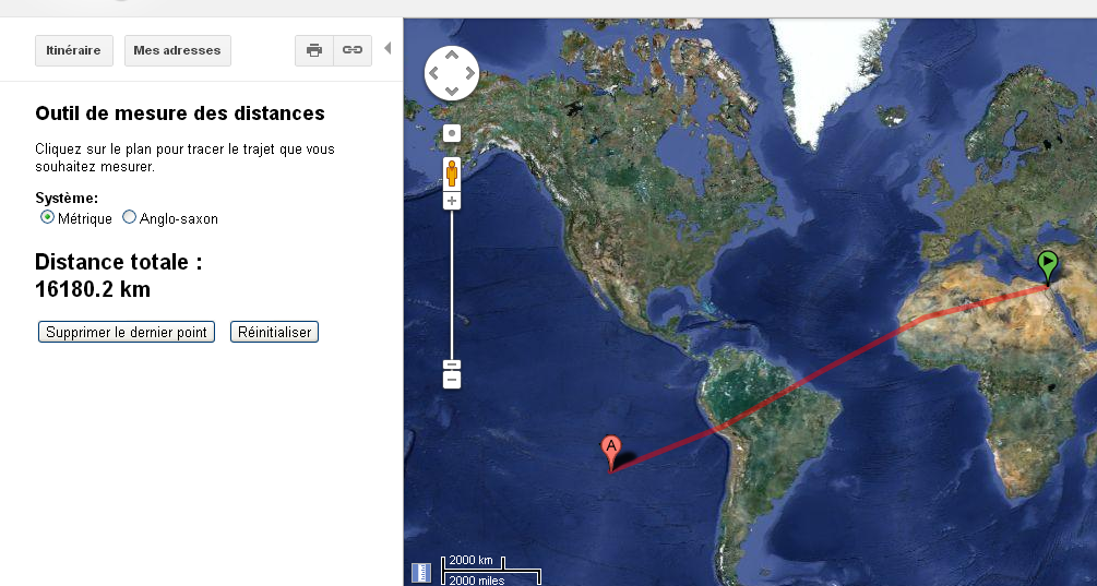 distance ile de paque kheops ajuster
