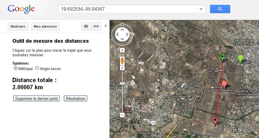 distance téotihuacan
