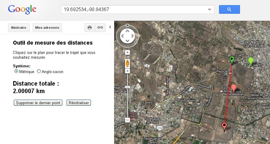 distance téotihuacan