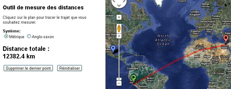 distance Gizeh Nasca